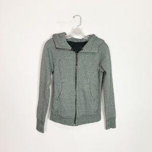 Lululemon scuba hoodie grey zip up size 2